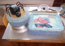 Spiderman-pavoučí dort