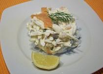 Štíhlé nudle ( šmakoun) s uzeným lososem
