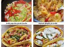 Zapečená špagetová dýně ala carbonara