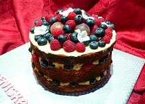 Bezlepkový nahatý dort(Naked cake)