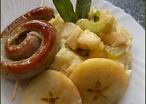 Bramborovo-celerové pyré s jablky a šalvějí