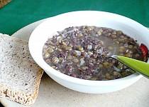 Čočková polévka s jelitem