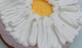 Jednoduchý dort pro milovníky kopretin