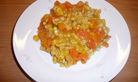 Kroupový salát s hokkaido