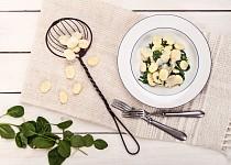 Noky se špenátem a čerstvým sýrem