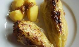Plněné papriky s mletým masem a šmakounem
