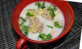 Polévka z vodnice s pohankovými vločkami