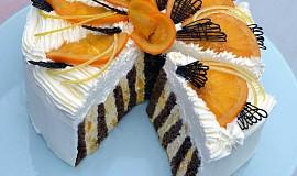 Rolovaný pomerančový dort