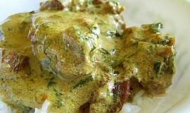 Skopové maso v špenátovo - smetanové sťávě
