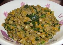 Voňavá čočka s mrkví a špenátem