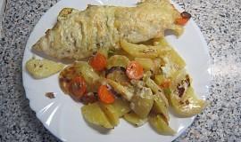 Zapečený pangas se smetanou a zeleninou