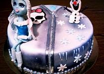 2 In 1 - Dvě pohádky v jednom dortu - Monster High a Frozen