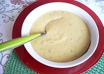 Cuketová polévka s červenou čočkou