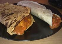 Domácí kukuřičné tortily s masovou náplní na mexický způsob