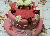 Patrový dort s medvídkem