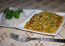 Indická kuchyně - jihoindické thakkali payaru curry (černooké fazolky) český videorecept