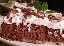 Křehký koláč s čokoládovou náplní