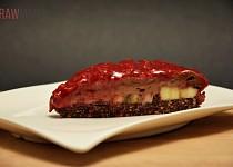 Malinový koláč - nepečený