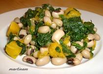 Okaté fazole se špenátem a dýní