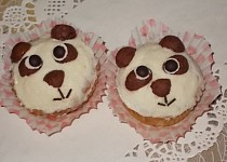 Panda muffiny s mandarinkami