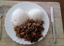 Uzené tofu na porku