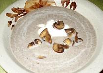 Žampionová rychlá polévka