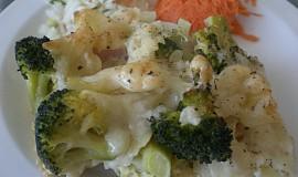 Zapečená brokolice s těstovinama