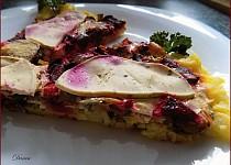 Zelenina zapečená na bramborovo-sýrovém lůžku