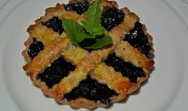 Borůvkové koláčky z mandlového těsta