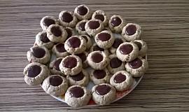 Celozrnné sušenky plněné džemem