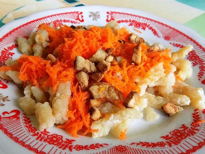 Halušky s mrkví