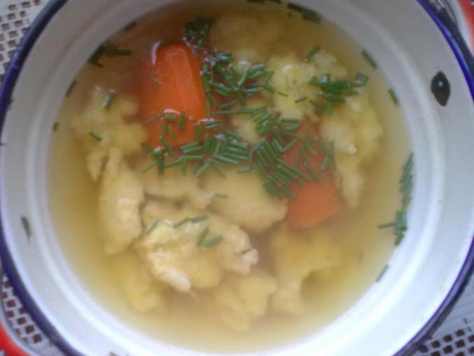 """Jednoduchá krůtí  polévka s noky ze """"Šlajfu"""", Jednoduchá krůtí  polévka s noky ze """"Šlajfu"""""""