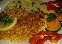 Kuřecí řízky v těstíčku a cornflakes