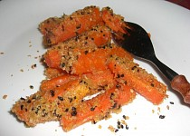 Mrkev pečená v sezamu