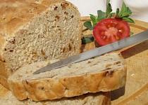 Syrovátkový chléb se sušenými rajčaty a cibulkou