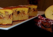 Tvarohový koláč s jablky II.