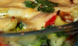 Zapečená brokolice s bramborami