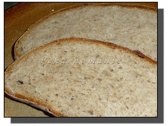 Bramborový chléb s prefermentem
