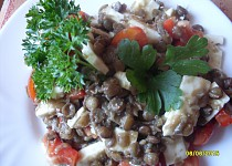 Čočkový salát bez majonézy a jiných tučných přísad