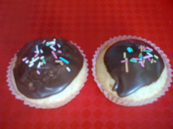 Cupcakes s čokoládovou polevou, Cupcakes s čokoládovou polevou