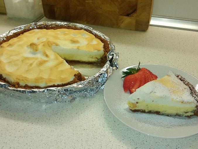 Key lime pie, návrh servírování