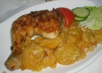 Kuře na smetaně s bramborem