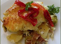 Zapékané brambory s růžičkovou kapustou