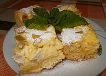 Rebarborovo-pudinkový koláč