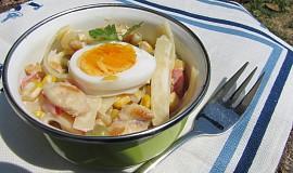 Těstovinový kuřecí salát s jogurtem