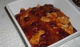 Texaské fazole s kuřecím masem