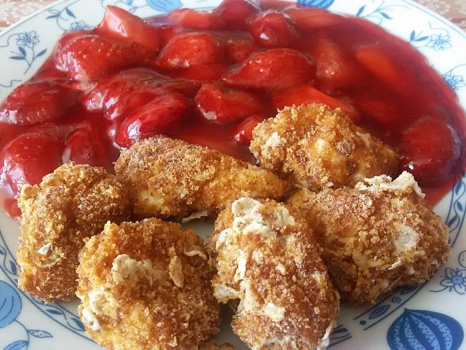 Tvarohové noky s jahodovým rozvarem