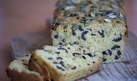 Cuketový chléb s černými olivami {Bezlepkový}
