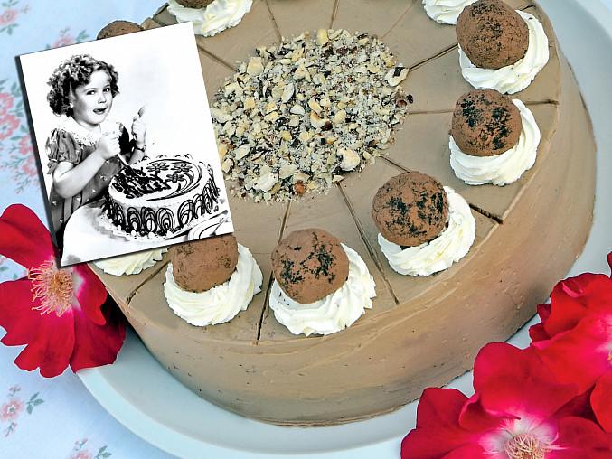 Historické dorty: Lanýžový pro Shirley Temple, Dětská hvězda stříbrného plátna Shirley Temple dostávala k narozeninám dorty, se kterými se nechávala fotografovat