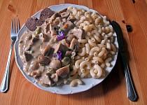 Kadlíkův vepřový jazyk na houbách